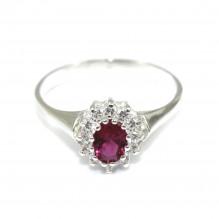 Piękny pierścionek MARKIZA z rubinem