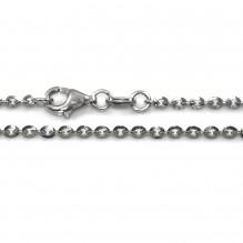 Łańcuszek rodowany anker 70 cm