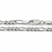 Łańcuszek srebrny figaro 45 cm