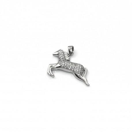 Wisiorek srebrny rodowany koń