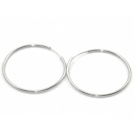 Klasyczne kolczyki srebrne koła 4,2 cm