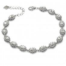 Klasyczna bransoletka srebrna rodowana Markiza