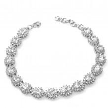 Elegancka bransoletka srebrna rodowana Markiza