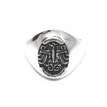 Sygnet srebrny Orzeł BÓG HONOR OJCZYZNA
