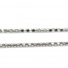Łańcuszek srebrny rodowany 60 cm koreana