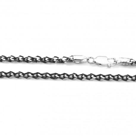 Łańcuszek srebrny oksydowany do markazytów 55