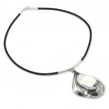 Artystyczny naszyjnik srebrny z perłą Biwa