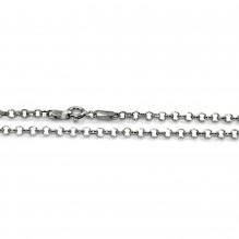 Łańcuszek srebrny rodowany ankier 55 cm