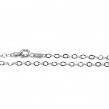 Łańcuszek srebrny rodowany ankier 45 cm