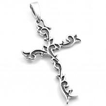 Stylowy krzyż srebrny oksydowany
