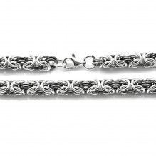 Bransoleta srebrna splot królewski bizantyjski 20 cm