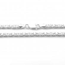 Łańcuch srebrny splot królewski bizantyjski 55 cm