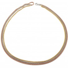 Naszyjnik srebrny potrójny koreana 50 cm