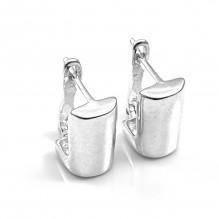 Klasyczne kolczyki srebrne angielskie
