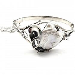 Bransoleta srebrna...