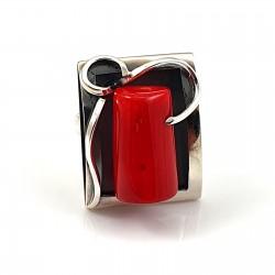 Artystyczny pierścionek z...