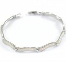 Bransoletka srebrna z prawdziwym opalem 18,5 cm